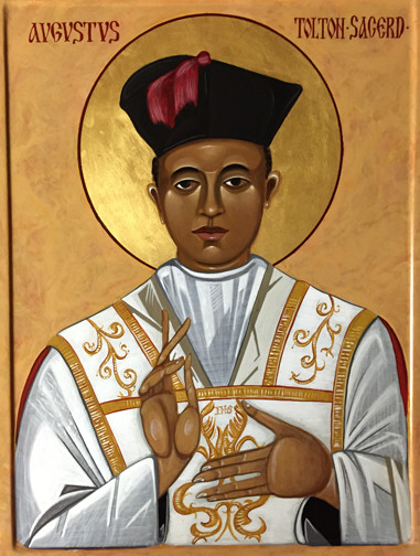 This icon of Servant of God Father Augustus Tolton was commissioned by the Fr. Tolton Guild. The Roman Catholic Church's first black priest in the United States was born into slavery in northeastern Missouri in what is now part of the Diocese of Jefferson City.