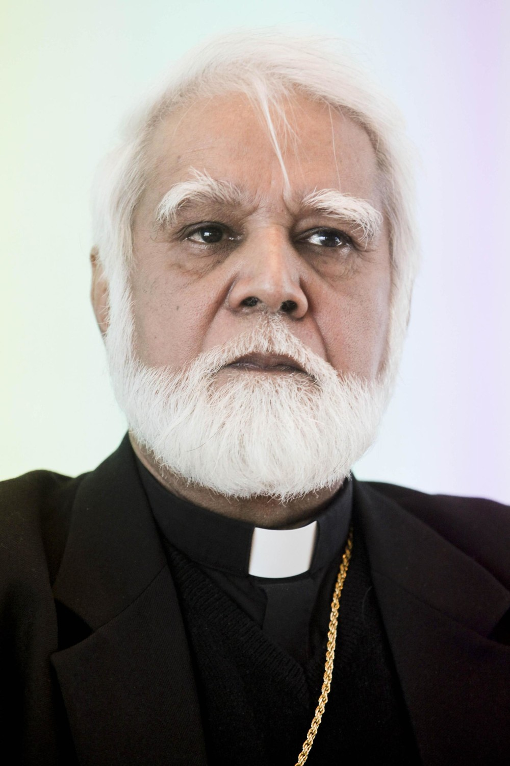 Archbishop Joseph Coutts of Karachi, Pakistan, was one of 14 new cardinals named by Pope Francis May 20. He is pictured speaking during a meeting in Milan, Italy, March 2, 2016.