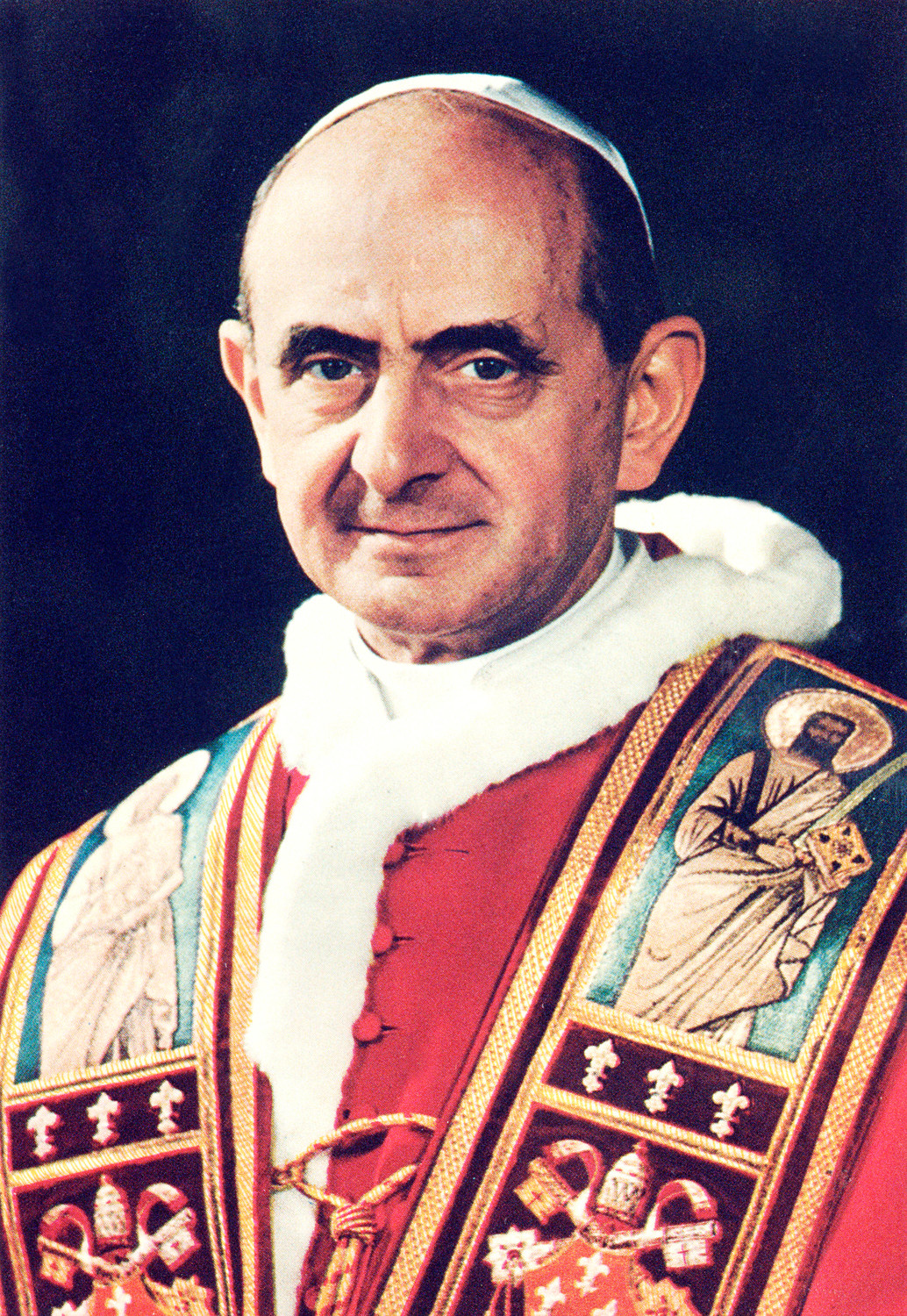 Blessed Paul VI is pictured in this undated portrait. He was the first Pope to invite the press to travel on his foreign trips.