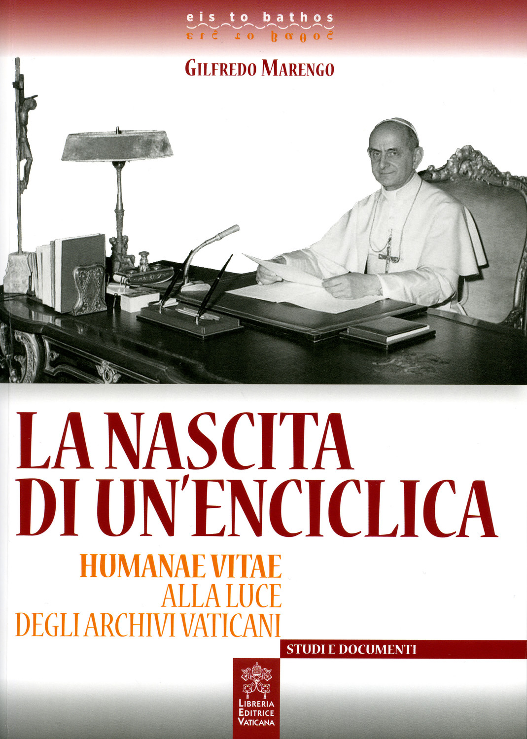 "This is the cover of the Italian book, ""The Birth of an Encyclical: 'Humanae Vitae' in the Light of the Vatican Archives."" The book is by Monsignor Gilfredo Marengo, who was given special access by Pope Francis to research ""Humane Vitae"" in the Vatican Archives."