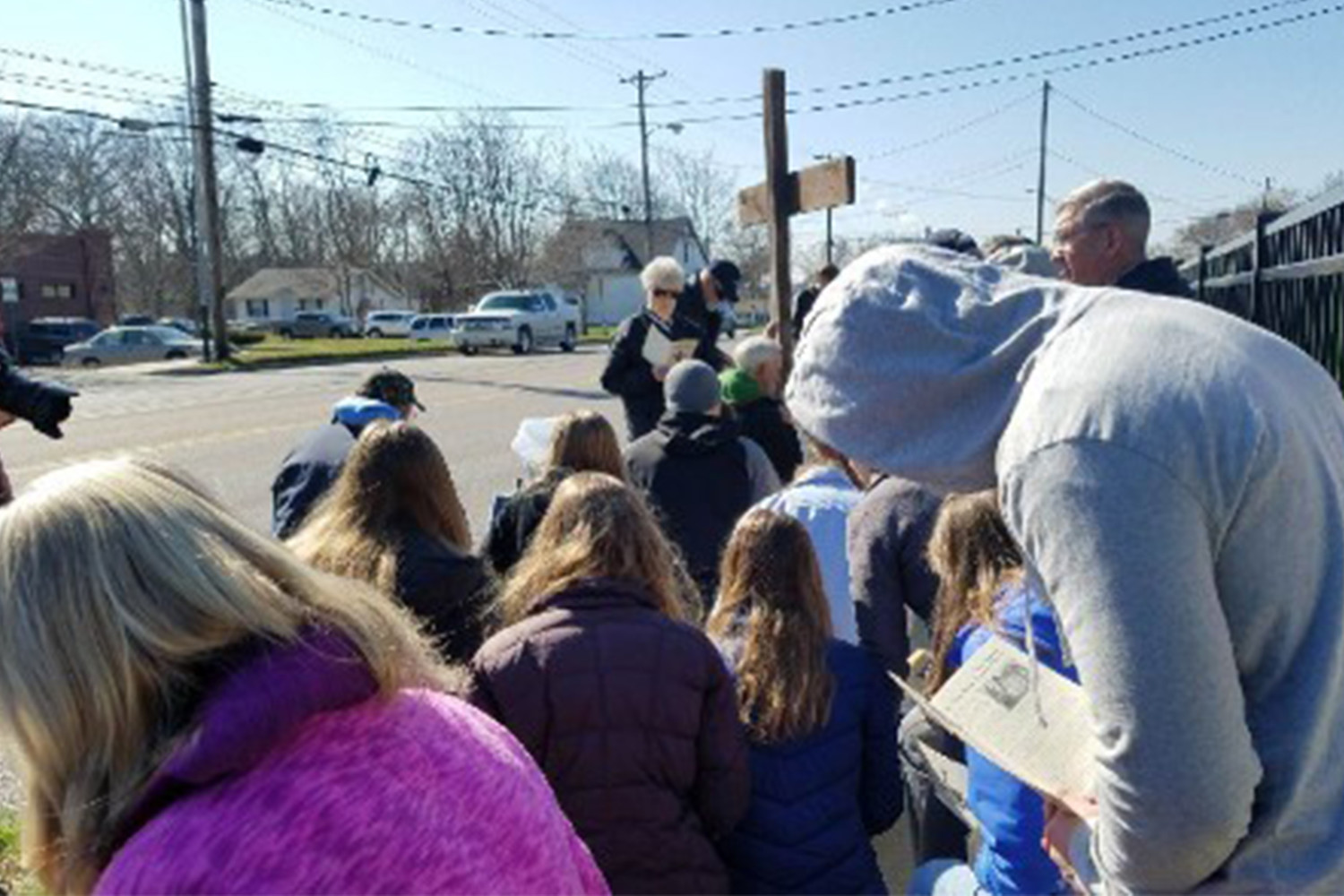 People pray for an end to abortion from the sidewalk outside the Columbia Planned Parenthood location as part of the 40 Days for Life Campaign. Abortions may cease, at least temporarily, at the clinic due to a recent court decision.