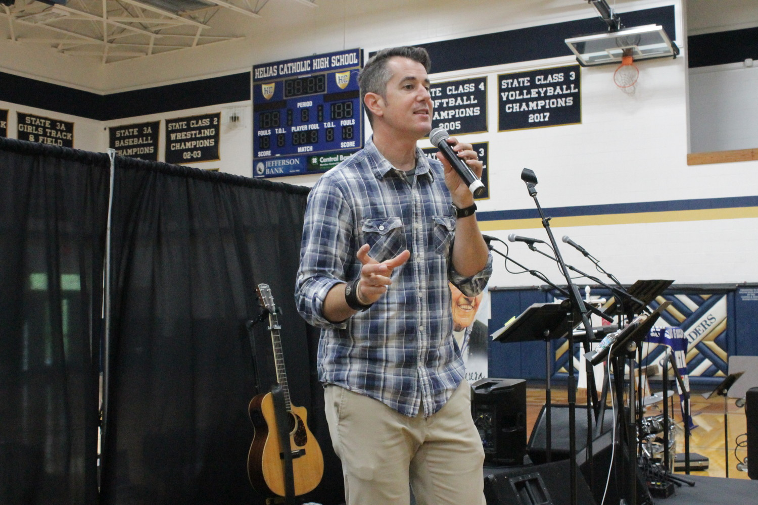 Cooper Ray urges high school teens from the diocese to start out simple and keep moving forward in building up their relationship with Christ.