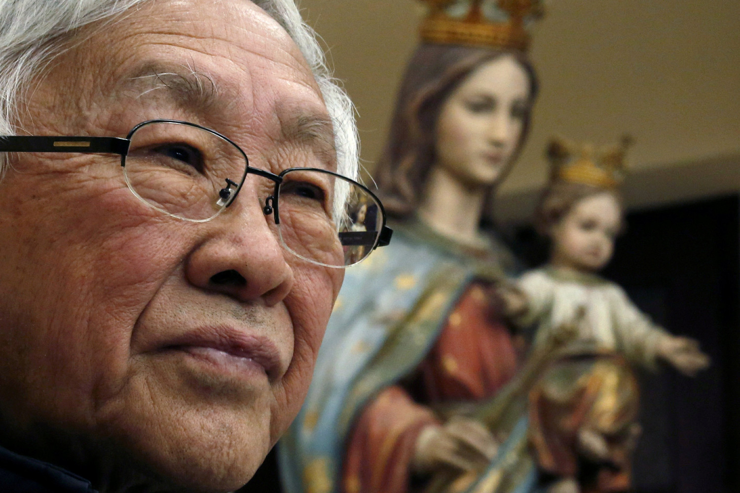 Cardinal Joseph Zen Ze-kiun, retired archbishop of Hong Kong, attends an early February news conference in Hong Kong. For the first time in decades, all of the Catholic bishops in China are in full communion with the Pope, the Vatican announced Sept. 22.