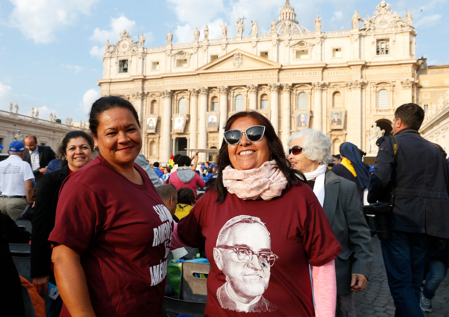 Pope Francis celebrates the canonization Mass for seven new saints in St. Peter's Square at the Vatican Oct. 14. Among the new saints are St. Paul VI and St. Oscar Romero.