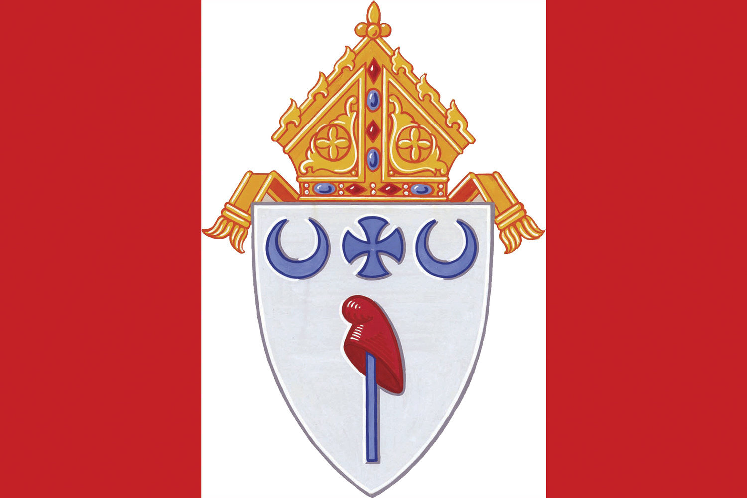 This is the Coat of Arms for the Diocese of Jefferson City.