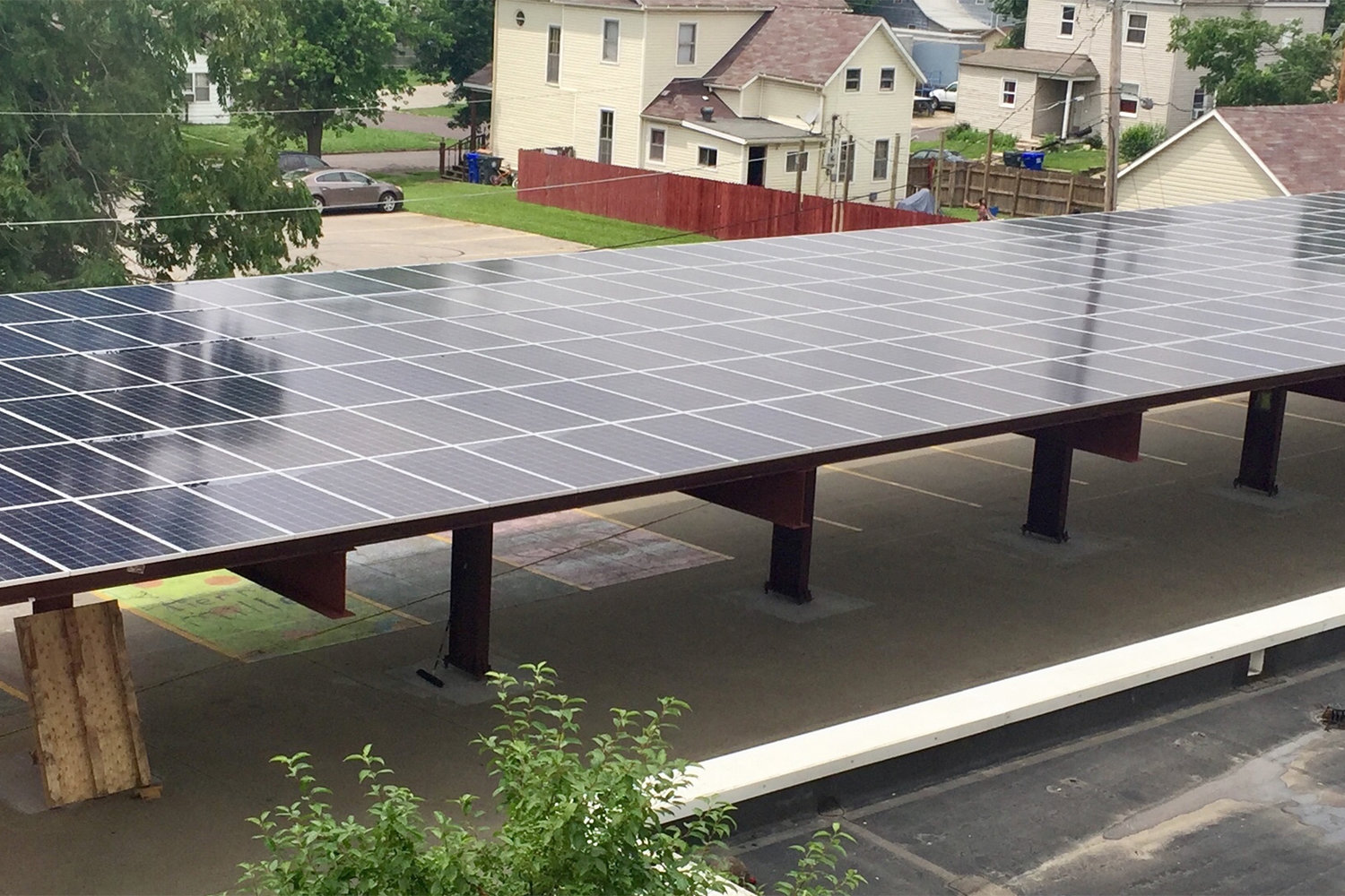 Sacred Heart School in Sedalia is using an array of solar panels to harvest energy from the sun, reaping a cost savings and giving students a chance to learn about science and practical ways of solving problems.