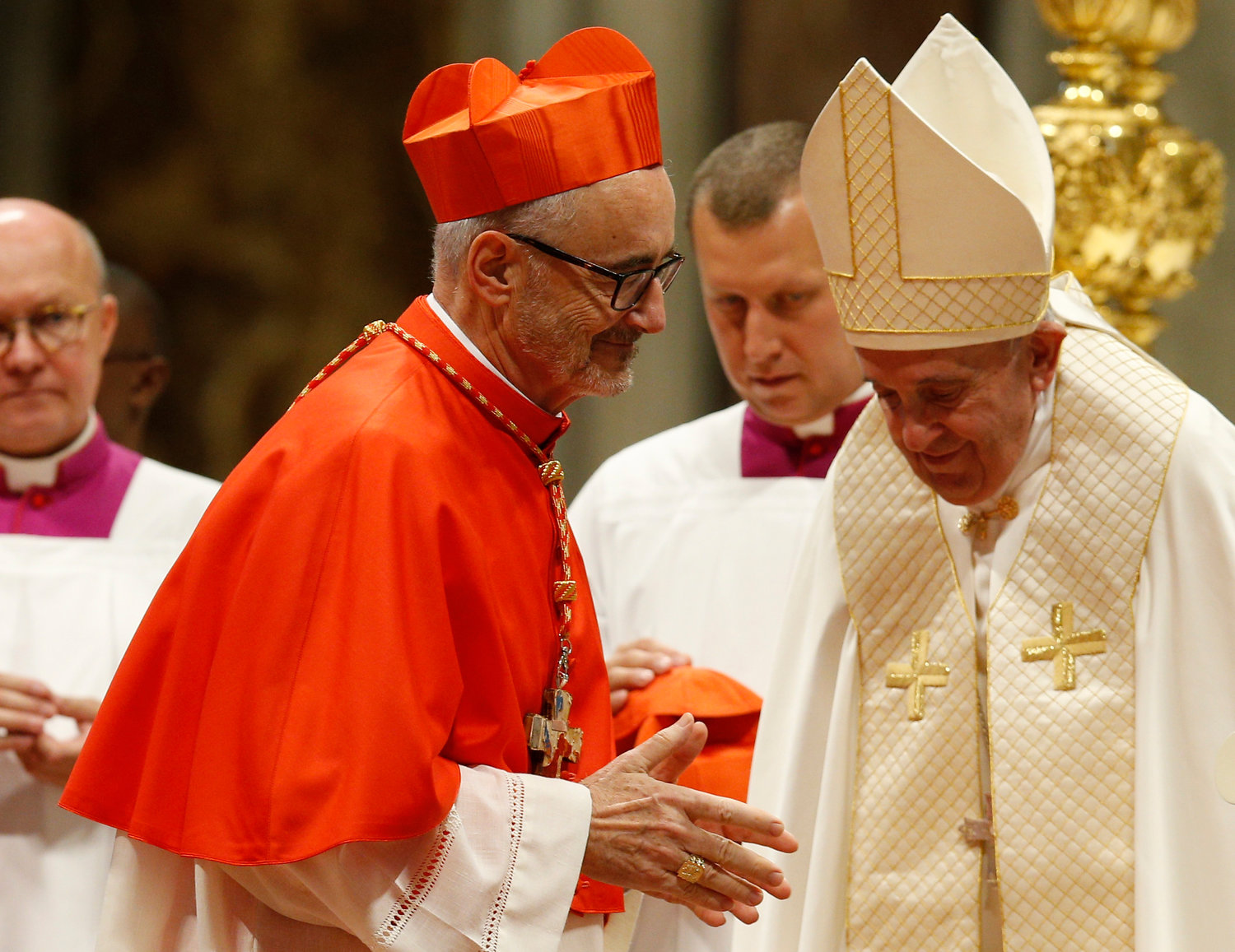 New Canadian Cardinal Michael Czerny arrives for a consistory led by Pope Francis for the creation of 13 new cardinals in St. Peter's Basilica at the Vatican Oct. 5, 2019.