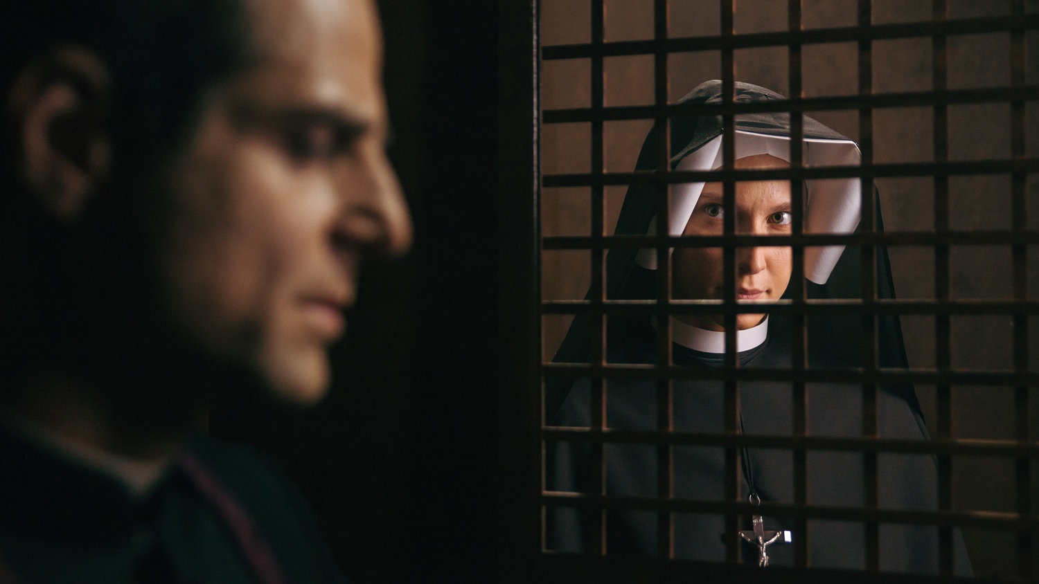 "Maciej Malysa and Kamila Kaminska star in a scene from the movie ""Love and Mercy: Faustina."" The new film on the life of St. Faustina Kowalska, the Polish nun whose visions of Jesus led to the Divine Mercy devotion, will have a one-night-only showing Oct. 28, 2019, at about 700 screens across the United States."