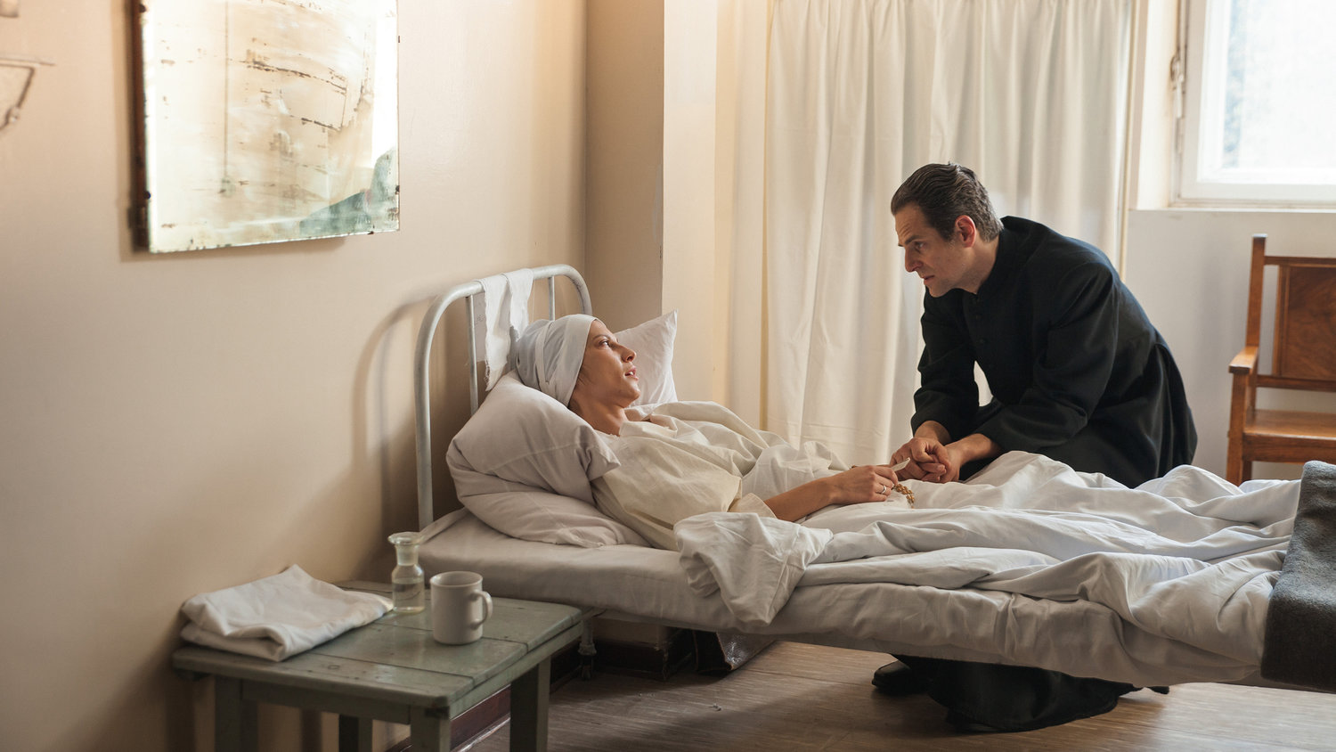 "Kamila Kaminska and Maciej Malysa star in a scene from the movie ""Love and Mercy: Faustina."" The new film on the life of St. Faustina Kowalska, the Polish nun whose visions of Jesus led to the Divine Mercy devotion, will have a one-night-only showing Oct. 28, 2019, at about 700 screens across the United States."