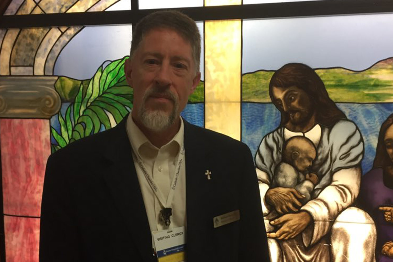 Deacon Michael Berendzen, coordinator for Columbia Catholic Hospital Ministry visits the chapel in one of five healthcare facilities in the largest city in the diocese.