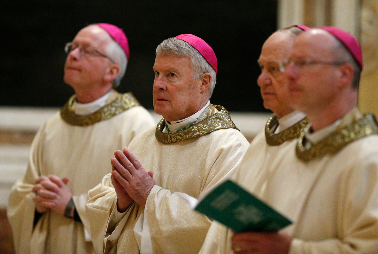 "Bishop W. Shawn McKnight of Jefferson City and other U.S. bishops from Iowa, Kansas, Missouri and Nebraska concelebrate Mass at the Basilica of St. Mary Major in Rome Jan. 14, 2020. The bishops were making their ""ad limina"" visits to the Vatican to report on the status of their dioceses to the pope and Vatican officials."