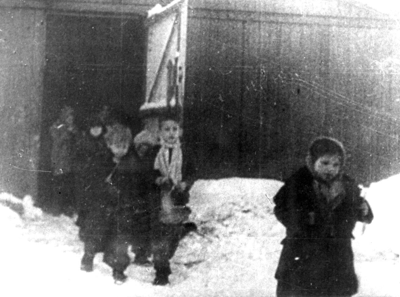 Children are seen after the liberation of the Nazi death camp Auschwitz-Birkenau in 1945 in Oswiecim, Poland. Historians estimate the Nazis sent at least 1.3 million people to Auschwitz between 1940-45, and it is believed that some 1.1 million of those perished there. Auschwitz was liberated by the Russian Army Jan. 27, 1945.