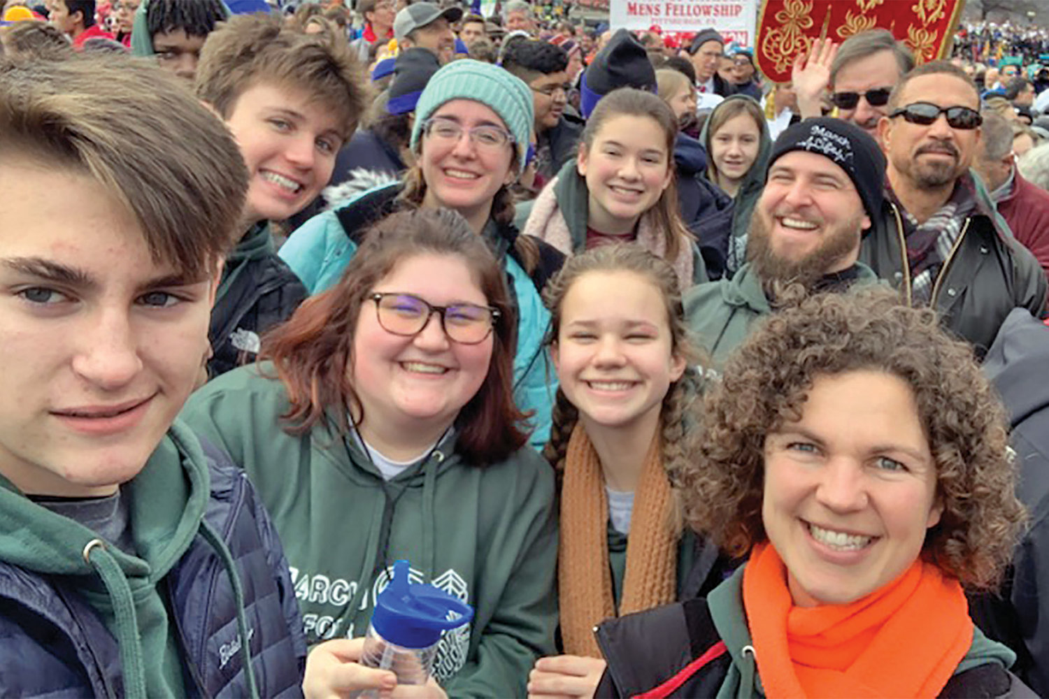 Representatives of Fr. Tolton Regional Catholic High School in Columbia were among the 290 people from the Jefferson City diocese who were on pilgrimage to Washington, D.C., for the National Mass and Prayer Vigil for Life and the 47th annual March for Life.
