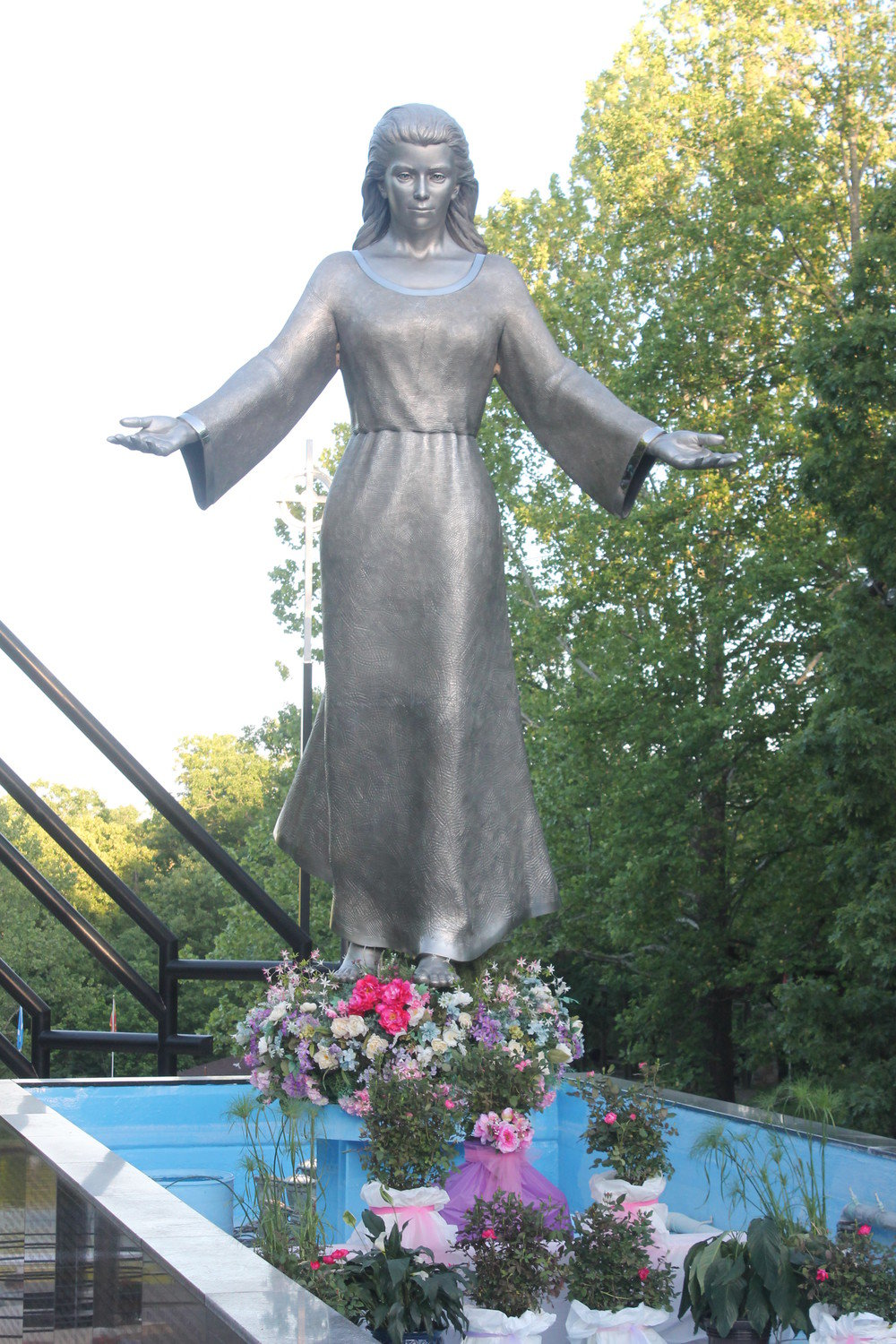 This sculpture of the Blessed Mother adorns the National Shrine of Mary, Mother of the Church, in Laurie, near the Lake of the Ozarks.