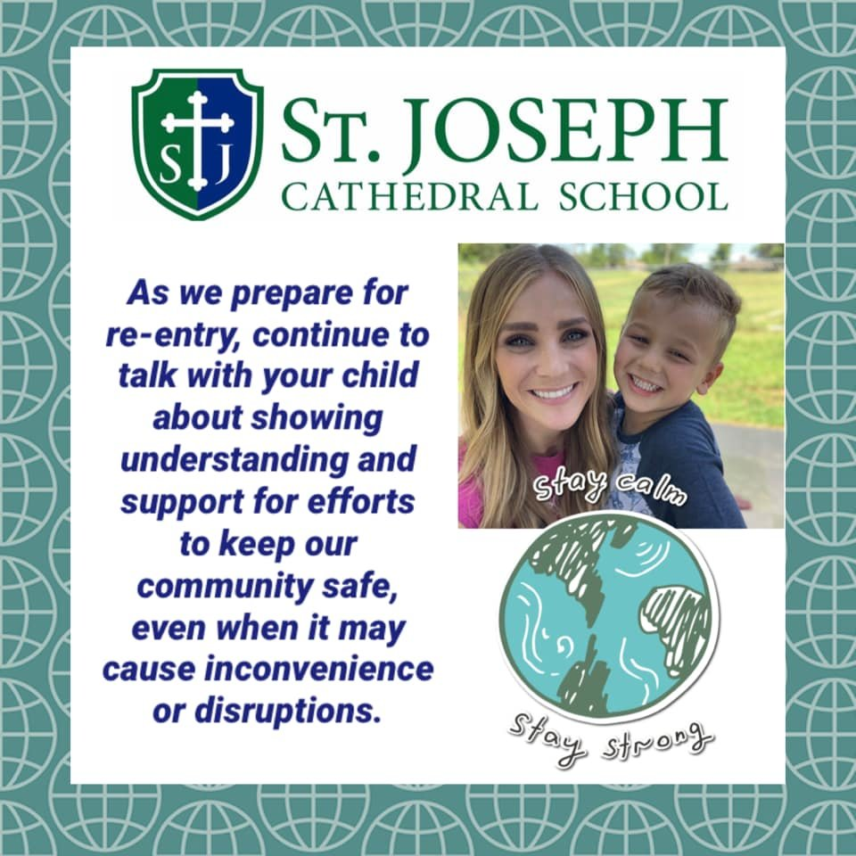 St. Joseph Cathedral School in Jefferson City posted this public service announcement on its social media platforms in early August.