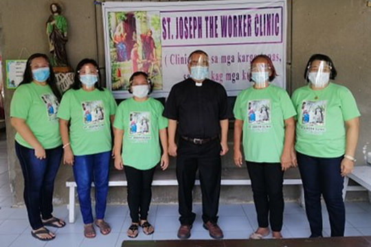 "Father Donardo ""Dandi"" Bermejo and the staff of the St. Joseph the Worker Clinic for the sugarcane plantation workers in the Negros Occidental region of the Philippines wear their armor to help people battle illnesses of all sorts."