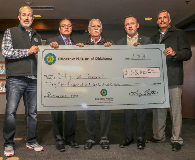 City and county receive <br />donations from Choctaw Nation