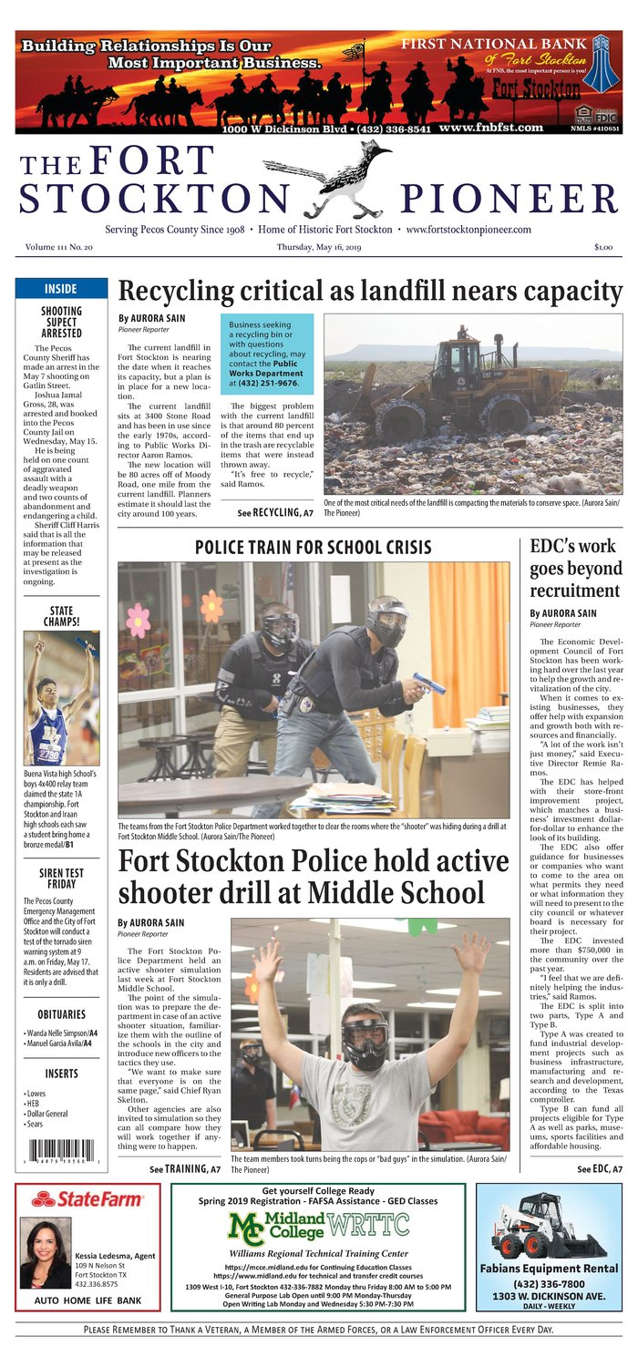 Thursday, May 16, 2019 | The Fort Stockton Pioneer