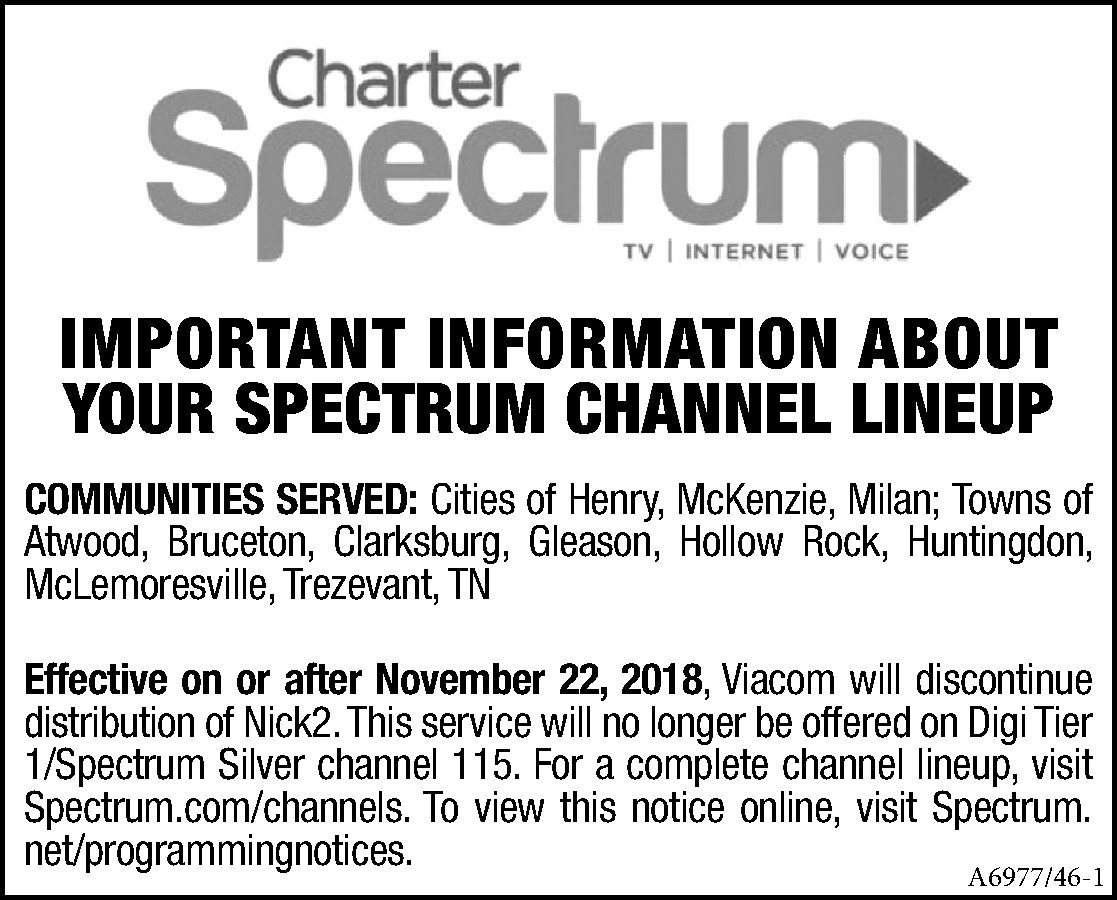 graphic about Printable Charter Channel Guide titled Constitution cable printable channel consultant
