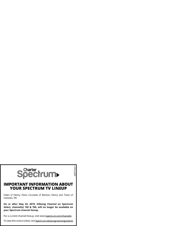 Charter Spectrum - Hillsong Channel | The Mckenzie Banner
