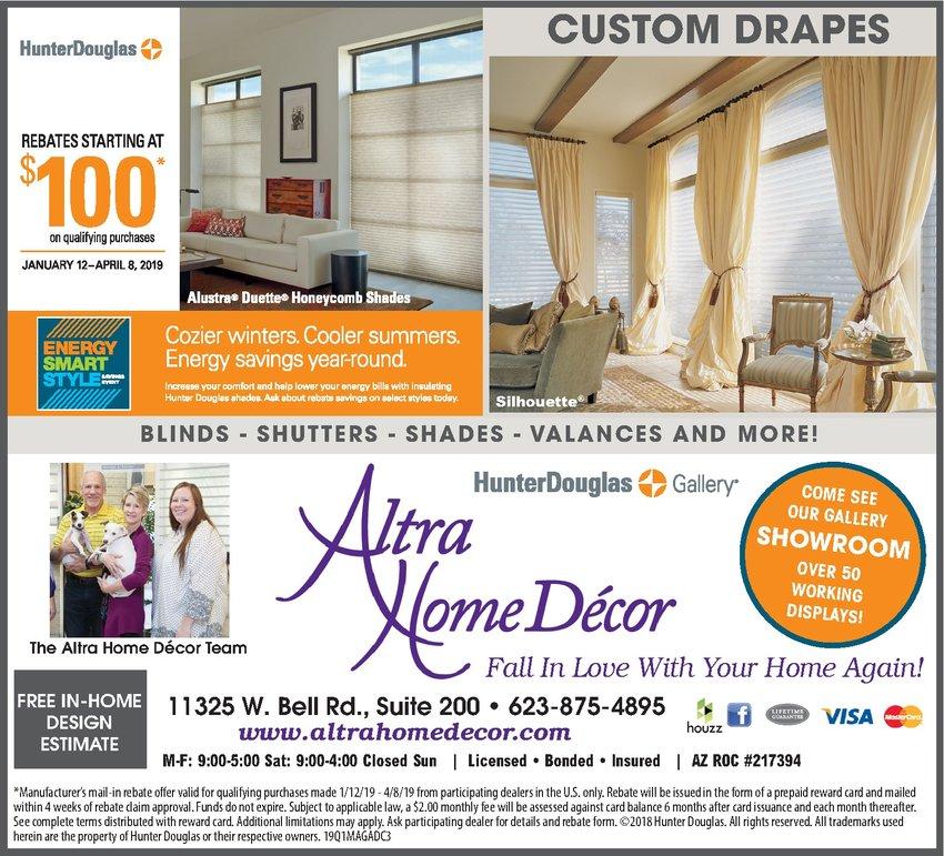 Altra Home Decor Hunter Douglas