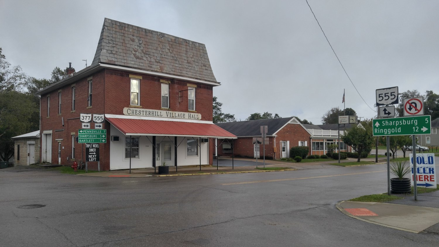 The Chesterhill Village Hall is wher community leaders chose to progress.