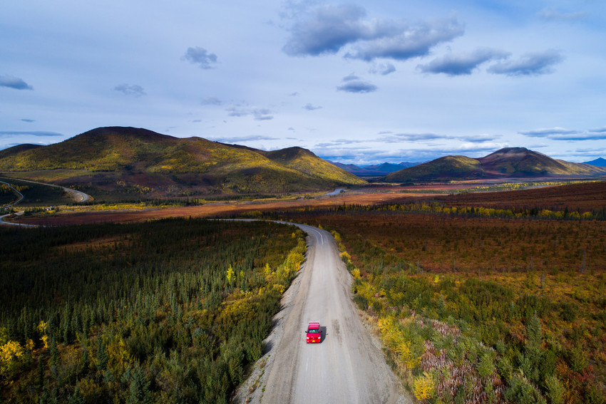 People travel along Dalton Highway near Coldfoot, Alaska, Sept. 3, 2017. The Catholic bishops of Alaska have released a pastoral letter affirming that all Catholic moral teachings stem from the foundational belief in the dignity and sanctity of every human life.