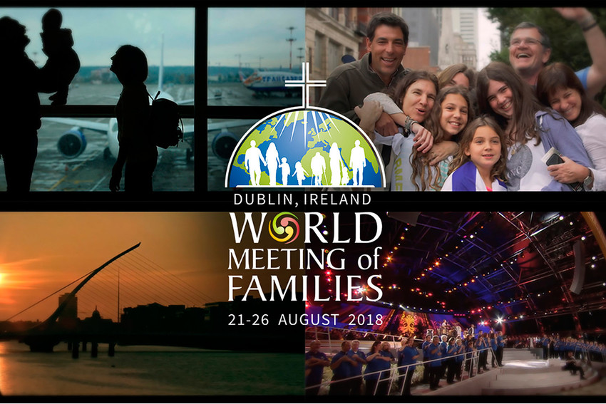 "This is a promotional image for World Meeting of Families to be held Aug. 21-26, 2018, in Dublin. The theme of the meeting is ""The Gospel of the Family: Joy for the World."""