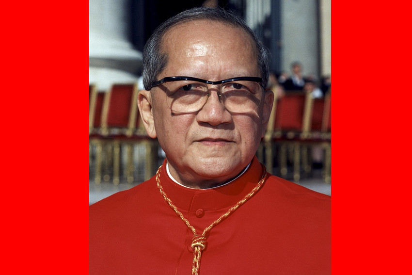 "Vietnamese Cardinal Francois Nguyen Van Thuan is pictured at the Vatican in this 2001 file photo. Pope Francis cited the late cardinal in ""Gaudete et Exsultate"" (""Rejoice and Be Glad""), the apostolic exhortation on holiness published April 9."