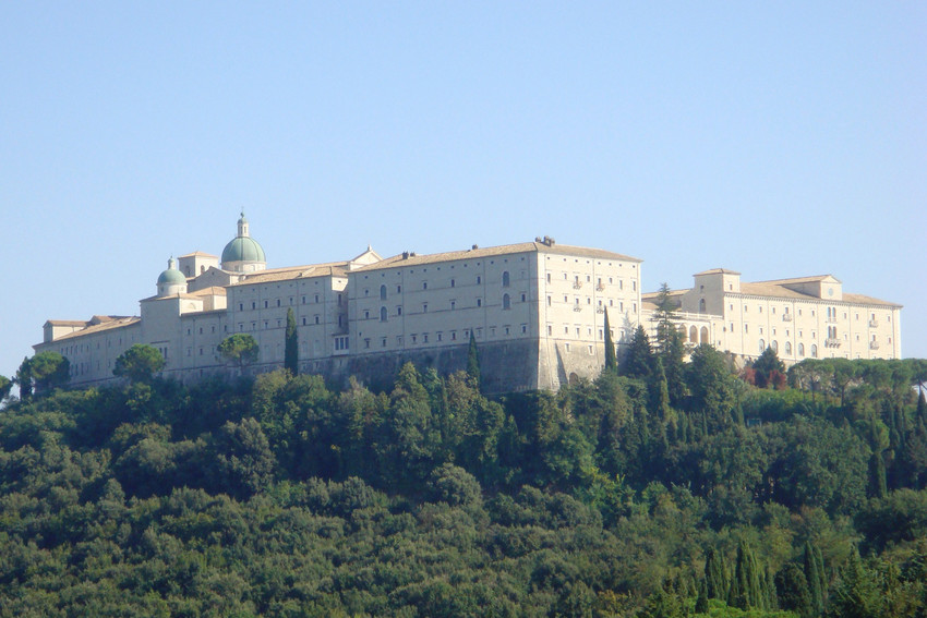 The abbey at Monte Cassino.
