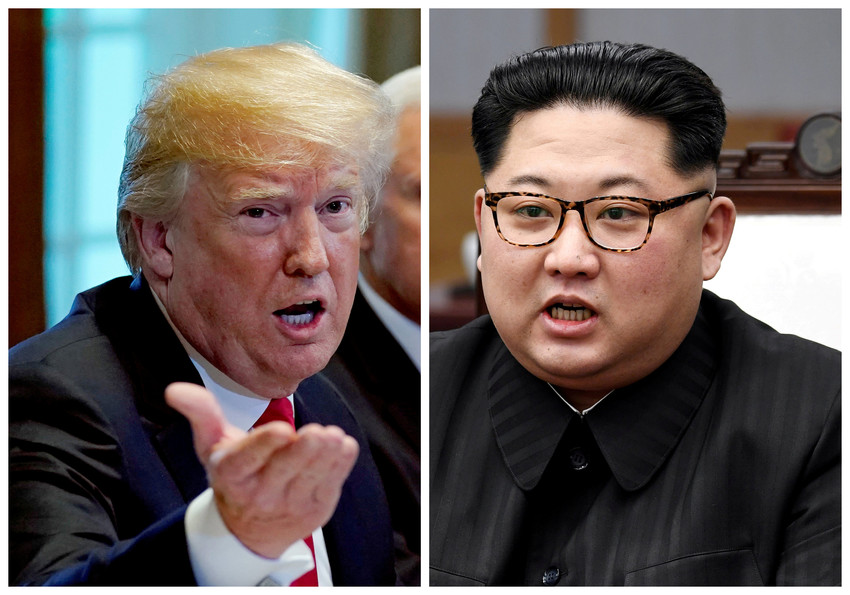 A combination photo shows U.S. President Donald Trump and North Korea leader Kim Jong Un. The two were to meet on Singapore's Sentosa Island for a historic summit June 12. It was to be the first meeting between a sitting U.S. president and a North Korean leader.