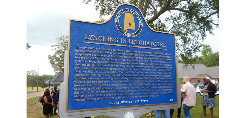 In a statement, Missouri's Catholic bishops endorsed placing historical markers such as this in places where the lynching of African-Americans took place in Missouri. A recent study concluded that 60 such lynchings took place between 1877 and 1950 in Missouri. The bishops said acknowledging these acts of terror as part of the state's history will help to heal some of the lingering harm.