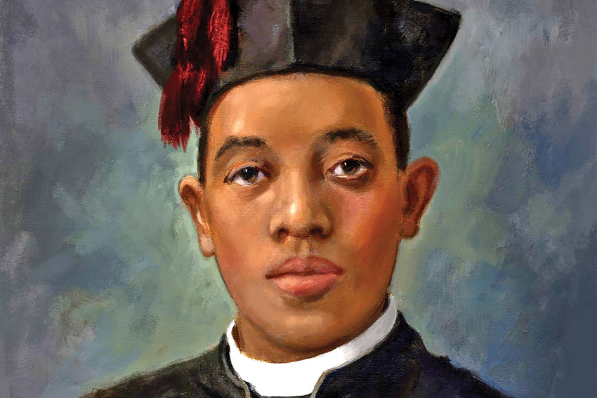 This painting of Venerable Father Augustus Tolton is reprinted through the courtesy of the National Black Catholic Congress.