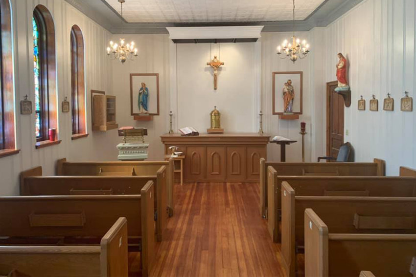 The renovation of the chapel in the St. Joseph Retreat Center in Edina was completed in time for livestreamed Masses for the Easter Triduum to be offered there.