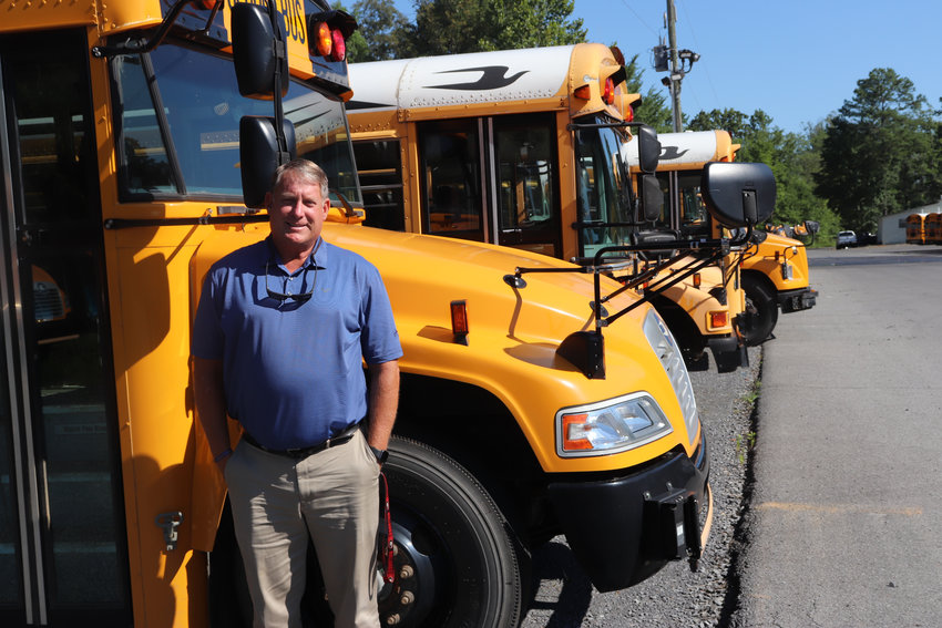 Mike Pritchett, director of transportation and facilities for the Murray County school system, is overseeing preparation of the system's bus fleet for the coming school year. COVID-19 has made that an unusually difficult task.