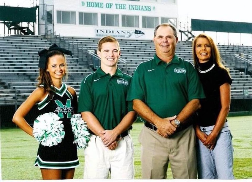 From left, Shelby, Josh, John and Jennifer from when John was still teaching and coaching at MCHS.