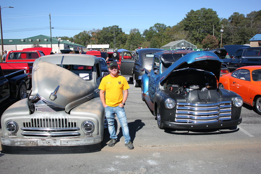 Car, truck and motorcycle show a crowd favorite at the Black Bear Festival on Saturday. Pictured is Kenny Hunt, show organizer. Buy a copy of The Times on Wednesday for more photos from the show and from the festival.