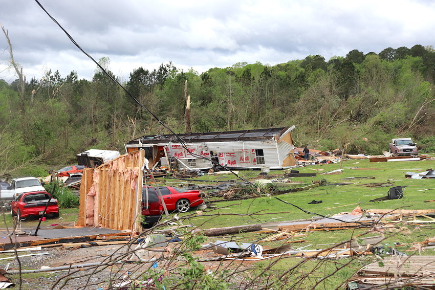 Tornado winds tore through Murray County a year ago, leaving a path of destruction and eight people dead. The EF-2 tornado slammed into this trailer community on Deer Park Lane, demolishing at least eight homes.