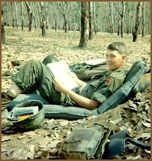 Army Sgt. Jerry Jordan enjoys a few minutes of down time. Jordan, a Murray County native, was killed in Vietnam in 1967.