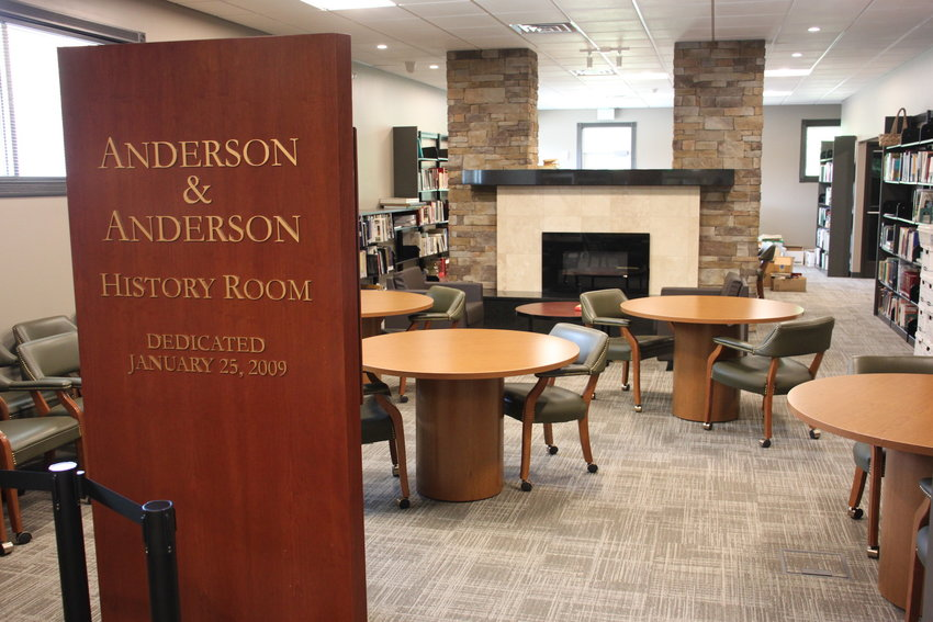 The Anderson & Anderson History Room is a repository for genealogical materials, documents, maps and old copies of The Chatsworth Times.
