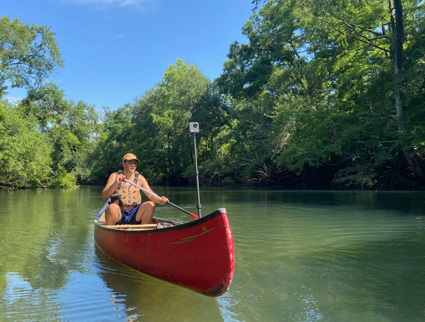 Georgia River Network Paddle Georgia coordinator, Joe Cook, maps 11 miles of Spring Creek while scouting for an upcoming Georgia River Network paddle trip. Learn more about upcoming trips at this link: https://garivers.org/grn-events/.
