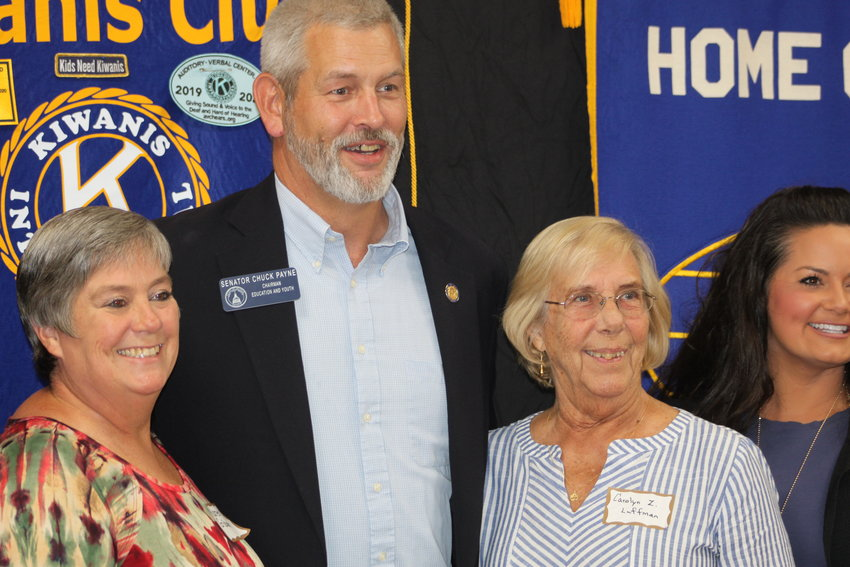 Sen. Chuck Payne meets with constituents on Civic Night.