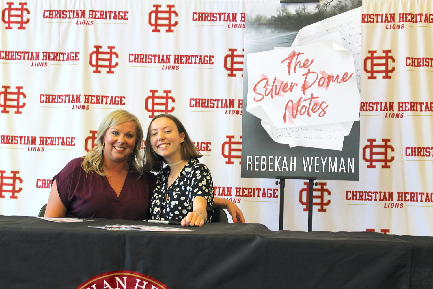 "Rebekah Weyman, right, worked closely with her senior English teacher Cassie Graeff in writing her mystery novel, ""The Silver Dome Notes,"" which can be bought at Amazon.com"