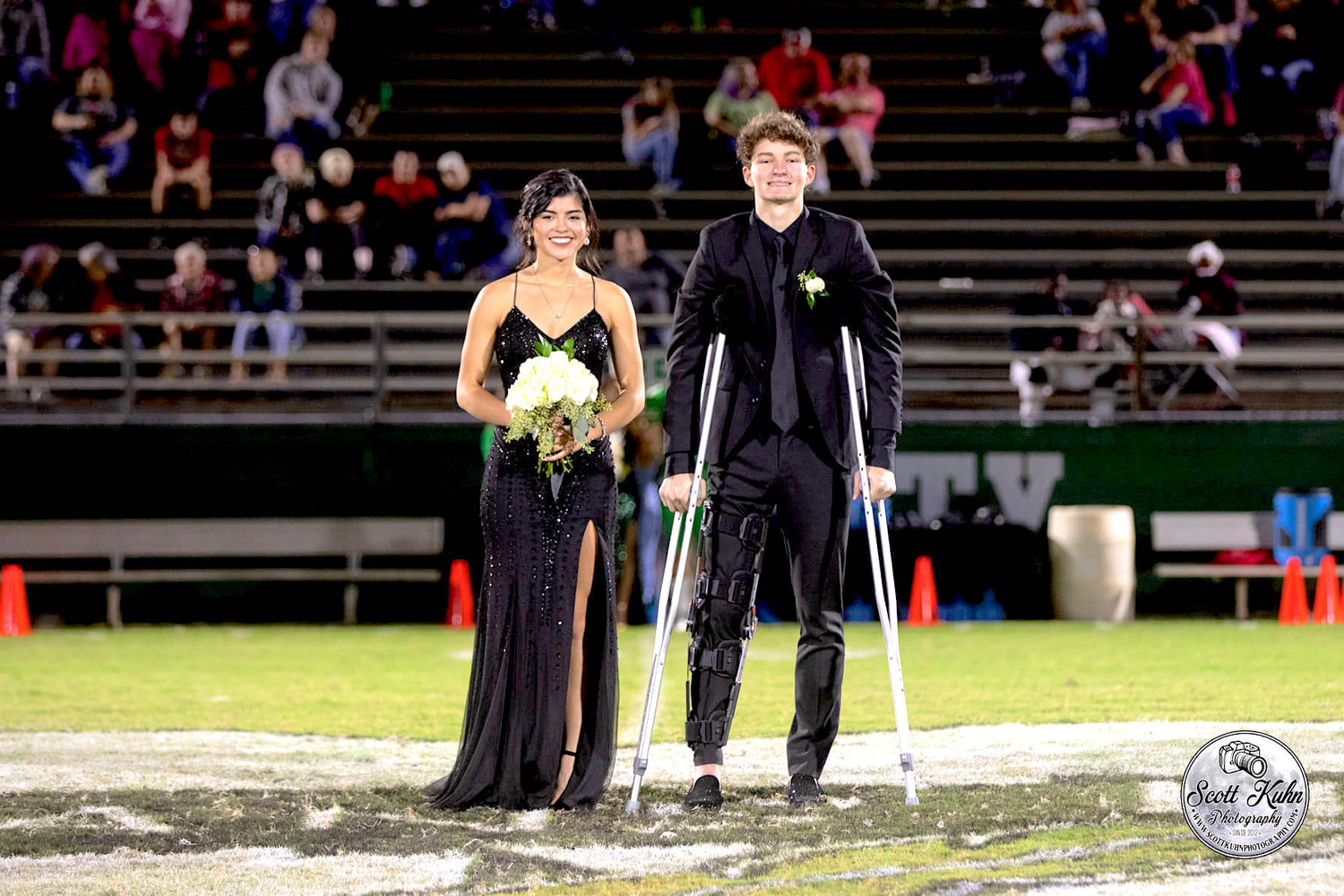 Homecoming Queen Vianca Gamboa and escort Athan Hicks