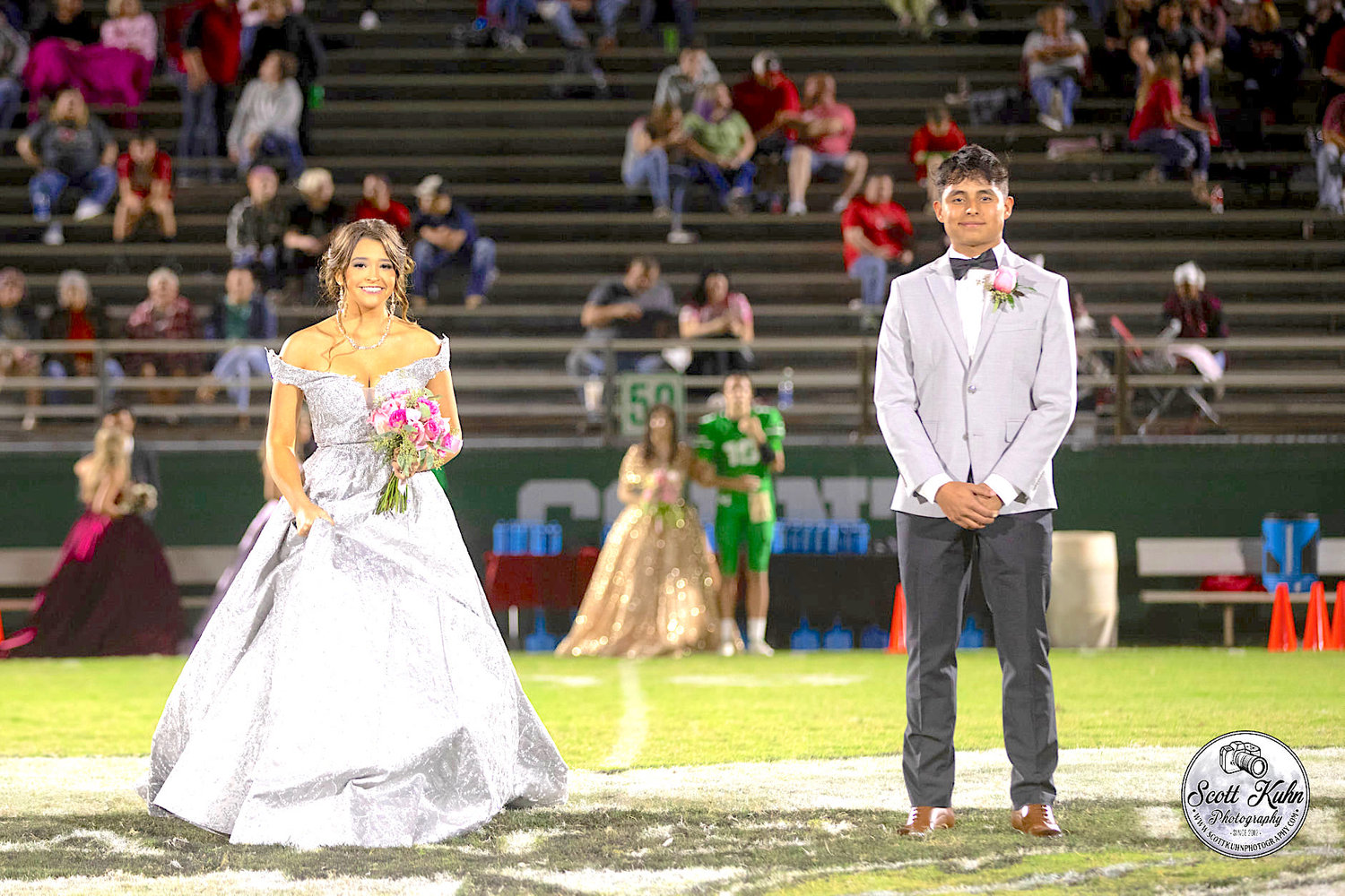 Sophomore Princess Mia Lowery and escort Christopher Hernandez