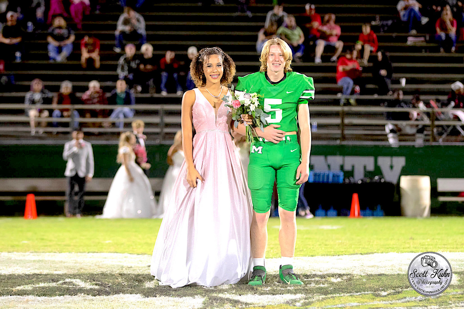 Freshman Princess Skyler Mahoney and escort Judah Woodall