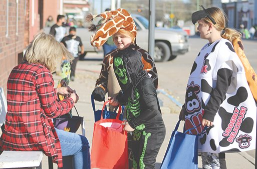 On Oct. 30, kids filled the streets starting at 4 p.m. for downtown trick-or-treating in Wilber.