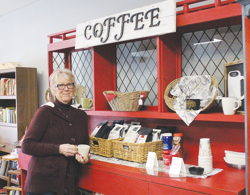 Care for a cup? Robbin Schemm runs the newly opened Friend Antiques store, located at 130 Maple Street. The store is open beginning at 10 a.m. with no closing time listed Thursdays through Saturdays. There is a free coffee bar to use while shopping as well.