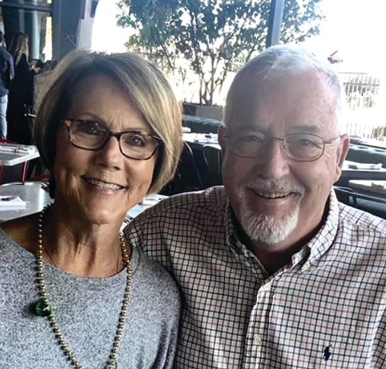 Scholarship donors Kathy and Bill Kinney of Peoria, Arizona are pictured. .