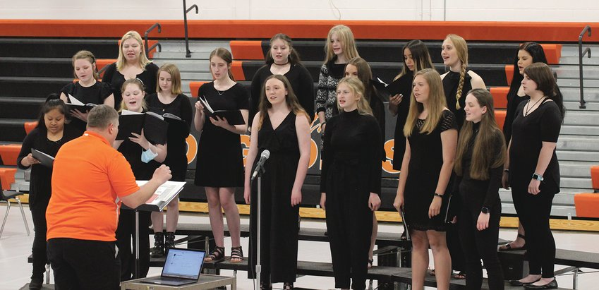 The Dorchester High School women's choir kicked off DHS' spring concert April 29.